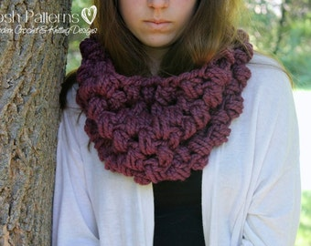 Crochet PATTERN - Crochet Cowl Pattern - Crochet Patterns - Infinity Scarf Pattern - Circle Scarf - Toddler, Child, Adult Sizes - PDF 380