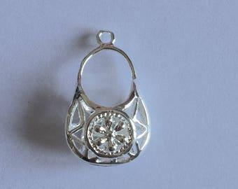 purse: shiny metal