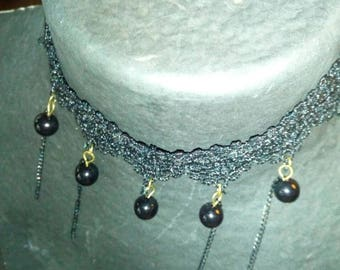 Beaded crochet Choker...