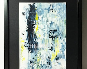 Original framed acrylic painting - 'PRUSSIAN - 01'