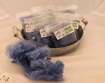 Blue Teeswater locks felting bits, Needle Felting wool, #649