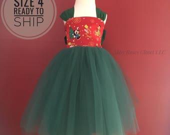 Ready to ship size 4 Minnie Christmas dress , Christmas dress