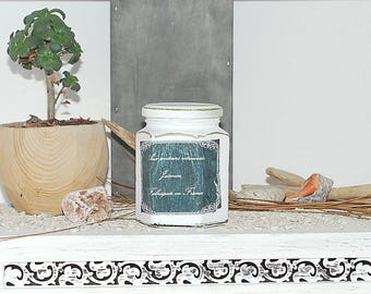 Jasmine- floral candle- jasmine candle- flower candle- hand cast- scented candle- soy candle- candles- spring candle- jar