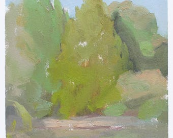 original painting, plein air landscape painting, oil sketch, Tennessee landscape painting by Michelle Farro