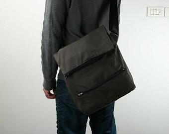 Messenger Bag , Laptop Bag ,Brown ,Cotton,Drill- Dori