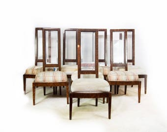 Set of 8 Mid Century Modern Dining Chairs