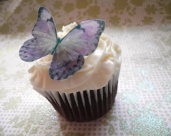 EDIBLE Butterflies The Original  - Large Purple - Cake & Cupcake toppers - PRECUT and Ready to Use