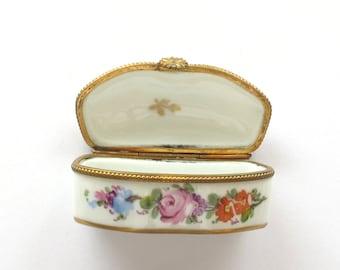 French Porcelain Hinged Box