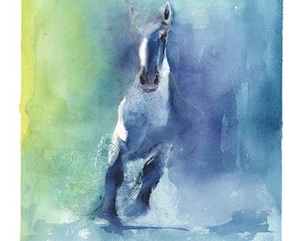 HORSE ART PRINT - spirit horse painting, spirit animal art, horse lover gift, horse print, horse decor, horse wall art, watercolor horse