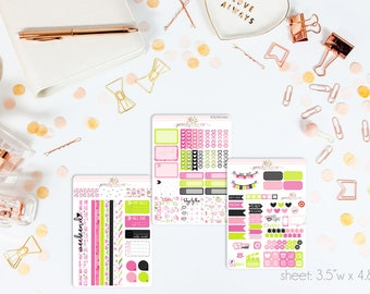 Watermelon Seeds MINI Weekly Kit // 130+ Matte Planner Stickers // Perfect for your Personal Planner // WKM0190