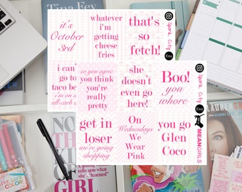MEAN GIRLS Quote Planner Stickers