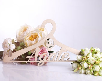 Personalized wedding hanger Bridal hanger Wedding dress hanger  Bride hanger Custom bride hanger Bridesmaid gifts Wedding gift for bride