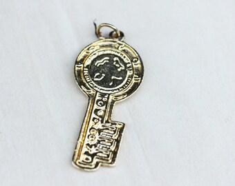 Gold Key Pendant