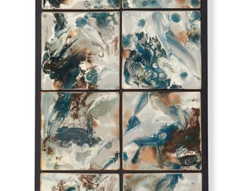 Tile Wall Art Blue Currents Tile Wall Hanging
