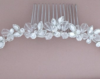 Handcrafted Wire Comb - or use as a Veil Comb - Short Comb