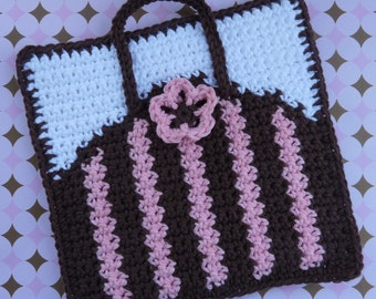 Purse Potholder Crochet PATTERN - INSTANT DOWNLOAD