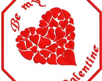 Mug Rug Valentine, Embroidery File