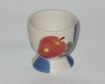 Egg Cup Holder Vintage Collectible Blue White Red Apple Contemporary  Retro Kitchen Decor Ceramic Easter Egg Cup