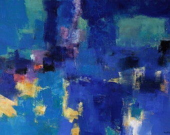 April 2015 - 1 - Original Abstract Oil Painting - 91.0 cm x 60.6 cm (app. 36 inch x 24 inch)