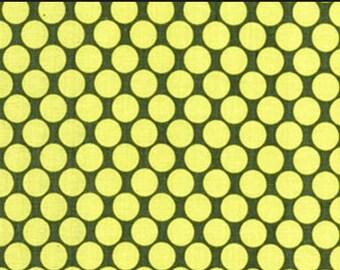 AB13 - Linen - Amy Butler Fabric Lotus Collection - Full Moon Polka Dot
