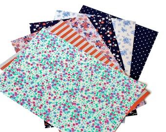 6 Self-Adhesive Sheets Flowers / Stars