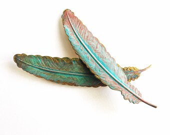 Patina Feather Barrette