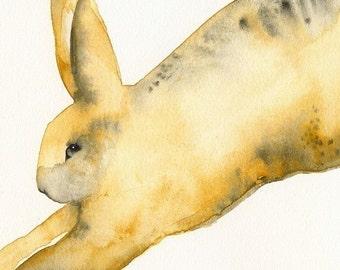 Leopard Cross- rabbit art