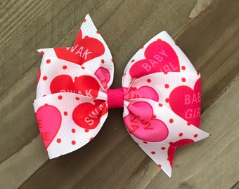 Valentine Be Mine Swak Hearts Pinwheel Bow