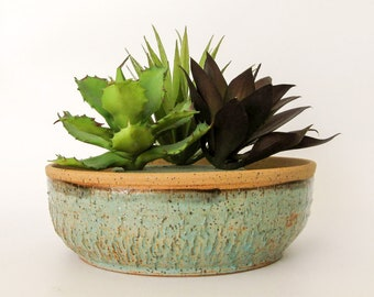 Succulent Planter - Cactus Pot - Ceramic Planter - Wheel Thrown Stoneware Pottery