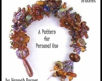 Easy Beading  tutorial Micromacrame Treasure Bracelet instructions pattern - knotting diy beginning level - by Hannah Rosner
