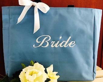 Bridal tote,  Wedding Bag. Wedding Tote. Bridal Shower Gift. Bridal Bag.  Wedding Anniversary Tote, Bridal Party Tote,