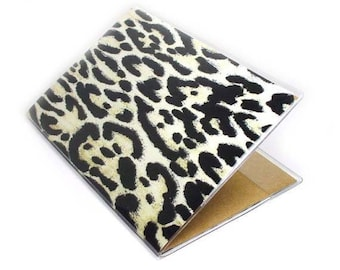 passport cover - Change Your Spots leopard print - passport holder - exotic luxe animal print travel accessory
