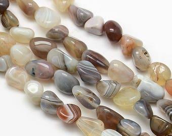 5 x 8-12mm Botswana Agate Nuggets beads