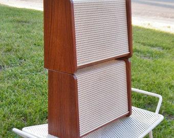 Vintage Grundig Speakers Model LS2a - Mid Century Speakers