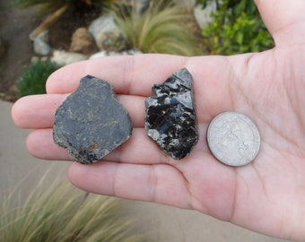 Black Mica Crystals, Mica, Biotite, Rough Rock, Crystal, Mineral