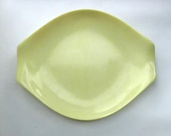 Large Russell Wright Yellow Residential Plastic Platter