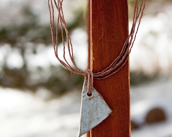 Ghost of Spring 11 - rustic stoneware necklace
