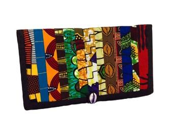 Travel wallet Passport holder Travel organizer Passport wallet Passport organizer Passport case Patchwork wallet African print wallet