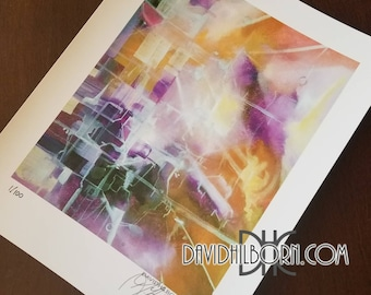 """Purple Paradox-8""""x10"""" signed and numbered print."""
