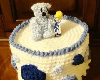 Baby 1st Birthday Hat Crochet Pattern pd493