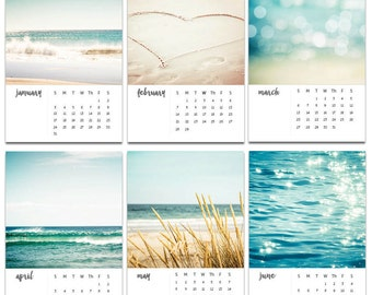 2018 calendar nautical decor beach photography calendar 2018 4x6 5x7 ocean calendar with easel 2018 calender with stand mini desk calendar