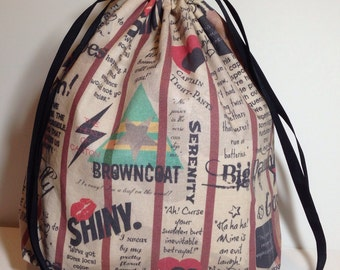 Firefly Montage Drawstring Project Bag