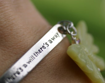 Fertility Wish, Wish Bracelet, Charm Bracelet, Infertility Journey, IVF Support, TTC, Jade Butterfly, Where there's a will, there's a way,