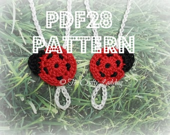 Ladybug barefoot sandals  - crochet pattern for babies and toddlers - PDF28 digital download