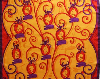 CREATION PROJECTIF Scarf lourde soie twill: Inventeurs et Savants silk scarf