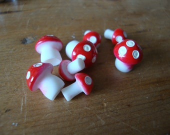 Miniature mushrooms mini fairy garden mini decorations embellishments terrariums