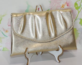 Pretty Vintage, Gold Vinyl Clutch