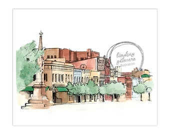 Downtown Athens Georgia print