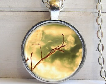 Tree Branch Necklace, Nature Jewelry, Photo Art Jewelry, Nature Lover's Gift