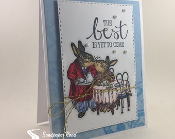 Anniversary Card - Kissing Bunnies